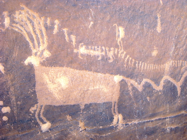 Procession Petroglyph Panel- Butler Wash- San Juan County, UT