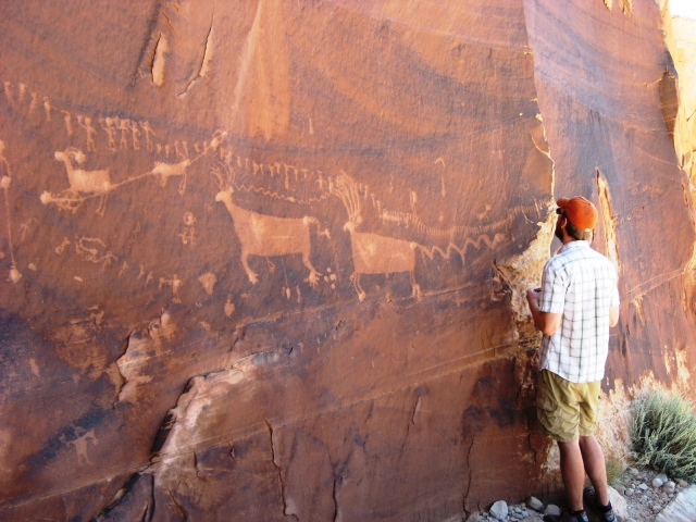 Procession Petroglyph Panel- Butler Wash